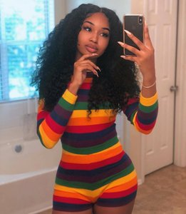 2020 New Hot-selling Listed Designers Women's Sexy Seven-color Rainbow Jumpsuit Pants DHL