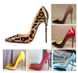 2020 high quality Fashion Heels printing classic Red Bottom Bottoms High Heels Leopard print Wedding Pumps Dress Womens Womens Shoes