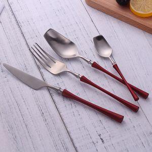 Spklifey yemek seti 304 Paslanmaz Çelik çatal bıçak kaşık seti mutfak bıçağı çatal kaşık yemeği sofra Gümüş set damla nakliye