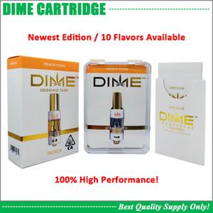 Premium-DIME Cartridge Vape Wagen Big Durchmesser 0,8 ml-Behälter Ceramic Spule dickes Öl 510 Vaporizer Atomizer Muha Med