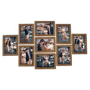 9 pz Cornici da parete Photo Frame Set pollici creativo Wedding Photo serie Famiglia Cornici Per Foto Decorazione Della Parete 2018