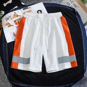 Мужские шорты летние мужчины повседневная мода Светоотражающая тенденция бренда хип-хоп шкур короткий мужчина плюс размер улицы 4XL 5XL