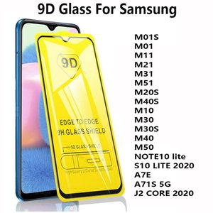 لسامسونج غالاكسي M10S M01 M11 M21 M31 M51 M30 M20S M30S M40 M50 NOTE 10 LITE J2 CORE خفف 2020 9D غطاء كامل حامي الشاشة الزجاجية