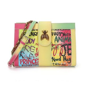 2020 New Insects Bee Deisgner Women Luxury Printing Graffiti cross body Ladies Letter pure color Messenger bag Shoulder Bag Fashion Wallet