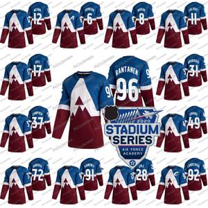 92 Gabriel Landeskog 2020 Stadio Serie Colorado Avalanche 29 Nathan MacKinnon Samuel Girard Mikko Rantanen Cale Makar Kamenev Jersey