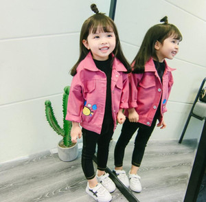 Ropa para niños nueva primavera y otoño de 2019 niños y niñas sarga chaqueta para niños chaqueta de cangrejo de dibujos animados para niños tops para niñas