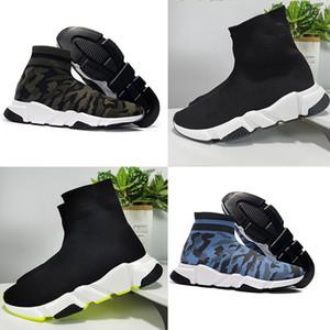 Balenciaga Sock shoes Luxury Brand مصمم أحذية جديد سرعة سوك احذية تمتد شبكة السامي الأعلى أحذية للرجل إمرأة أسود أبيض أحمر معان عداء شقة المدربين
