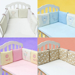 6PCs Baby Crib Bumper Breathable Comfy Cotton Infant Toddler Bed Cot Protector cotton muliti color free shipping
