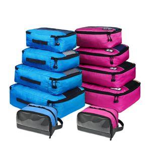 Soperwillton Bags Packing Bag Cubes 5 Travel Pieces Set Men Women Luggage 4 10 Nylon Set Travel Toiletry Organizer For Vwtjf