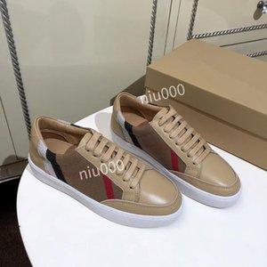 Burberry shoes célèbre Chaussures à lacets de marque en cuir véritable de qualité supérieure chaussures de marque casual bbr200416