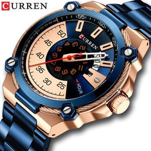 CURREN Design Uhren Herrenuhr Quarz-Taktgeber Male Fashion Edelstahl-Armbanduhr mit Auto Date Causal Business Neu-Uhr