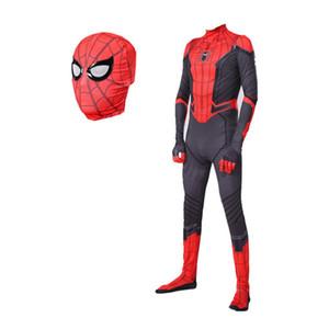Çocuklar Yetişkin Erkek Örümcek Adam maskot Kostüm Erkekler Örümcek Adam Kostüm Bodysuit Tulum Cadılar Bayramı Noel
