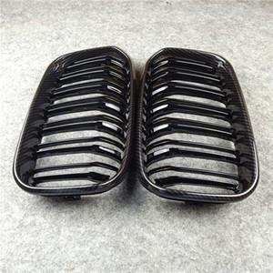 New Carbon Ready Grill Grillades FITS POUR BMW 1 SERIES F20 F21 LCI 2-SLAT GLOYSY M COULEUR NOIRE AVANT CRISE 2015-IN