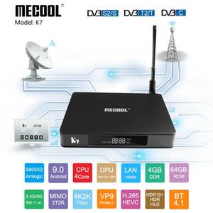 Mecool K7 Android 9. 0 Smart TV Box DVB-T2/S2/C Amlogic S905X2 4GB64GB DDR4 2.4 G / 5G WiFi K7 Set top Box