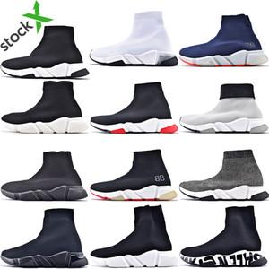 Hott Selling Original 2020 Femmes Hommes Sock Chaussures de marche Noir Blanc Rouge Vitesse Entraîneur de sport Chaussures de sport Top Bottes Hommes de chaussures Casual 36-45