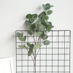 2019 New Eukalyptusbaum Zweig Runde Blätter künstliches Geld Blatt Retro Eucalyptus Pflanzendekoration gefälschte Blume faux Laub