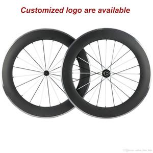 Un copertoncino 23 millimetri coppia di 80 millimetri di larghezza lega di carbonio freni ruote freno superficie 3k alluminio con mozzo R13 Bianco e nero Raggi