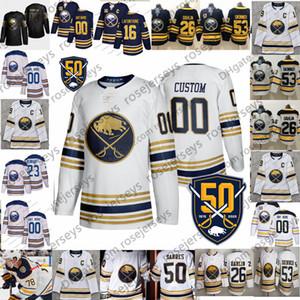 Personalizadas Buffalo Sabres 2019 nuevo blanco Jersey de encargo de oro Cualquier Número Nombre hombres mujeres jóvenes niño Azul marino Negro Eichel Dahlin Skinner 4XL