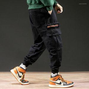 Forfait Big Casual Cargo Pants Lettre de broderie Hommes Pantalons cheville Baggage Hommes Pantalons Designer