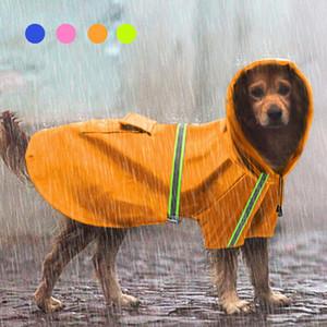 애완 동물 용품 연간 새로운 PU 반사 애완 동물 개 비옷 전문 자료 방수 하이 백 반사 디자인 안전