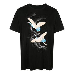 Hommes Styliste T-shirts T-shirt d'été grue Hip Hop Mode Hommes Femmes Styliste T-shirt à manches courtes T-shirts Taille S-XXL