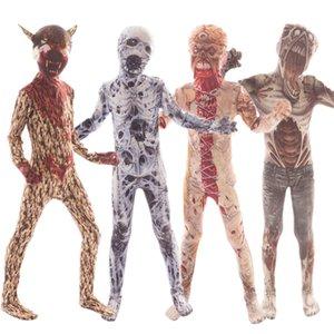 Çocuklar Demon Şeytan Varyant Palyaço 3D için Yeni Cadılar Bayramı Korku Kostüm İskelet Bodysuit disfraz Carnival Parti Giyim yazdır