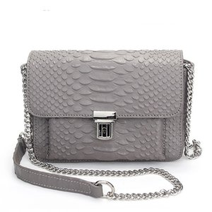 Network red Mini Leather Bag Genuine Leather Crossbody Bag High Quality Serpentine Pattern D119