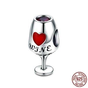 Estilo na moda Venda Hot 925 Sterling Prata Copo de Vinho winebowl encantos presente pingente de Dia dos Namorados para a esposa amante China Wholesale Cheap