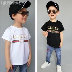 Ropa para niños Camiseta de 1-8 años Camiseta de manga corta con cuello redondo para niños Camiseta para niños y niñas de color liso Camisa POLO de algodón
