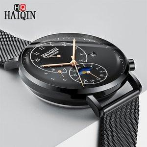 Haiqin Mens observa Relógio De Pulso Homem de aço inoxidável impermeável