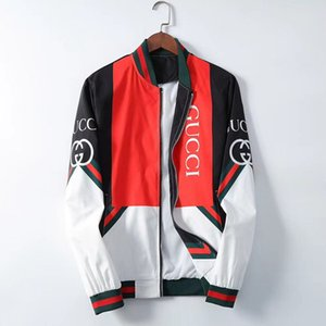 new 2019 Brand new Mens designer jackets jacket honeybee print Harajuku hip hop windbreaker Medusa baseball jackets Size M-3XL #01