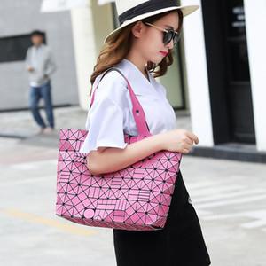 Designer- Neue Handtasche Frauen Laser Matte Taschen Designer-Marken-Dame Geometrie Diamant-Gitter-Falten-Beutel-Hologram-Handtaschen