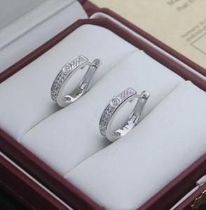 Women Hoop Earrings Cãrtiêr Love Designer Stud Earrings Wedding Jewelry 316L Titanium Steel Silver Rose Gold Earring