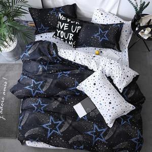Установки постельных принадлежностей Simple Classic Queen 5 Размер постельное белье 4 шт. Установите одеяло чехол в пастырский лист AB боковые звезды