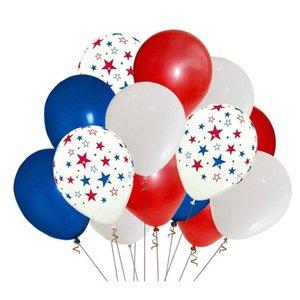 12-дюймовый цветной шар американский флаг независимость Национальный день США 4 июля сплошной цвет звезды латекс декоративный шар 100 шт.