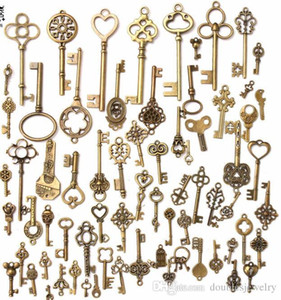 The whole network best-selling vintage key, dIY metal key, 70 mixed bag creative jewelry accessories, fashion key accessories