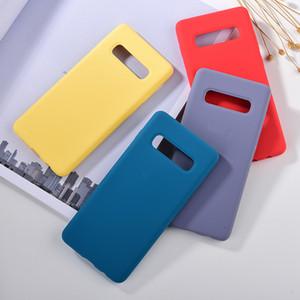 Original Flüssig-Silikon-Hülle für Samsung Galaxy S10 Plus-S10E S9 plus glatte Note Silky Soft Cover mit Kleinkasten
