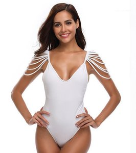 White Beach Biquinis Swimwear roupas para mulheres Verão One Piece Bikini borlas Designer preto sólido