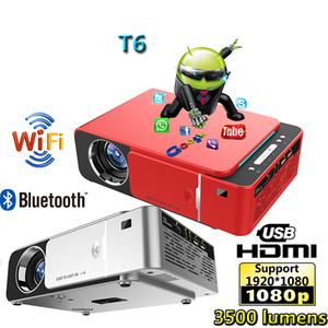 T6 1280 * 720 LED 프로젝터 3500 루멘의 단 초점 프로젝터 키스톤 보정 USB HDMI VGA AV 홈 시어터