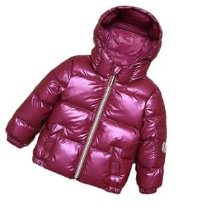 2019 Kinder Winterjacke Baby-Mädchen-Kleidung Snowsuit neues Jahr Warm Jacekts Kinder Kapuzen-Parka Junge Mädchen Daunenjacke 7Colors