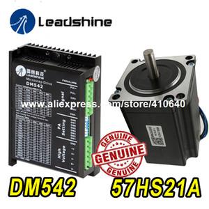 GENUINE Leadshine Stepper Motor 57HS21A 8mm 샤프트 5A 2.1 N.M 및 Leadshine DSP 디지털 스테퍼 드라이브 DM542 Delivery TOGETHER