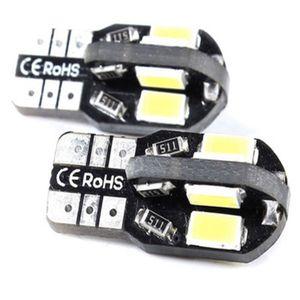 100pcs T10 5630 8 SMD Blanc 5730 W5W 12V Côté voiture / Ampoule de plaque d'immatriculation CANBUS.