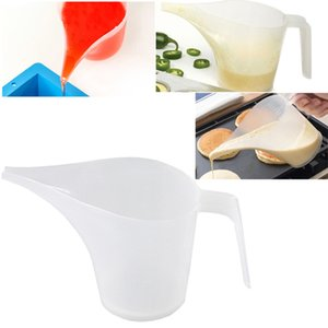 Tip Mouth Plastic Measuring Jug Wide-neck Funnel Graduated Surface Measuring Cup Cooking Measured Capacity Kitchen Utilities