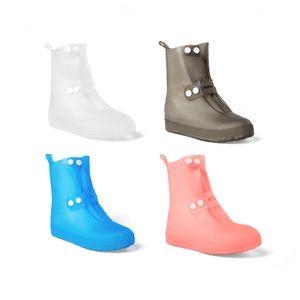 Copriscarpe impermeabili riutilizzabili impermeabili per donne in PVC Copriscarpe Copriscarpe antiscivolo Copriscarpe alte da esterno 34-45 2 PAIA / 4 PZ