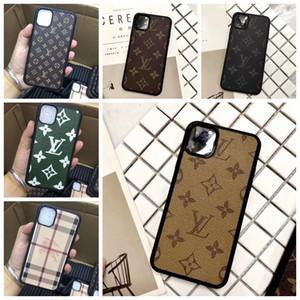 Nova Marca Designer Impressão Flor telefone Caixa Para IPhone 11 Pro Max X Xs Max Xr 8 7 6 6s mais Couro Estilo Capa De Pele da concha A09