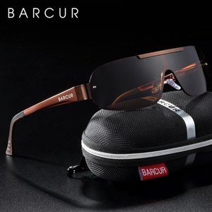 BARCUR Aluminium Magnesium Sonnenbrille der Männer Pilot Driving UV400 Schutz Man Sun Glas gafas de sol Schatten