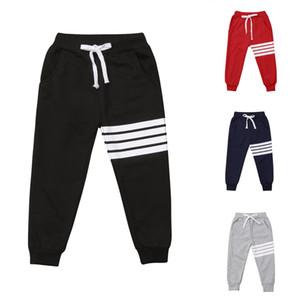 Calças novas Arrivels Esportes Crianças Boy listrado menina Calças Harem longas da criança Calças Bottoms Sweatpants