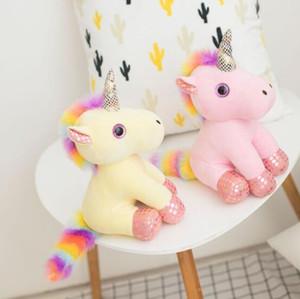 Unicorn Peluş Bebek Hayvanlar Doldurulmuş Oyuncaklar kolye İçin Anahtarlık Telefon Çanta Noel Çanta kolye Karikatür Anahtarlık CCA10651 50pcs
