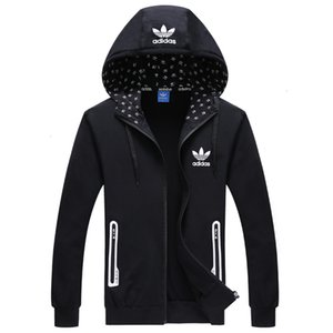 Sıcak satış Mensweater Erkekler Giyim Giyim Genç Yakışıklı Canlı Erkek ve Bayan Fermuar Kapatma Kol Tasarım Casual Spor Giyimi Tops