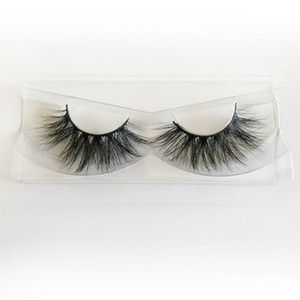 Hot Selling 25mm Lashes 5D Mink Eyelashes Handmade Mink Hair Strip Lashes Private Logo Custom Eyelash Packaging